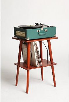 This media stand is great if you need something to store a record player on and don't have a lot of space.