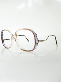 b13f197bf3f6 Vintage 1970s Oversized Eyeglasses Womens Sunglasses Oversized Huge Grandma  Blue Pink Pastel Clear Transparent Hipster New Wave Chic 70s
