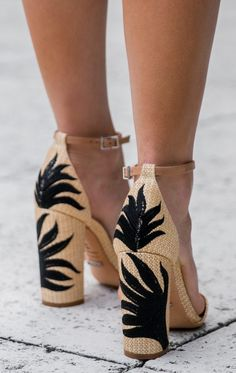 LOVE...perfect chunky heels for summer