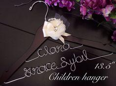 Children hanger, Baby shower gift, Custom Wedding Hanger, Name Hanger, Wedding Hanger, Baptism gift, baptism dress hanger