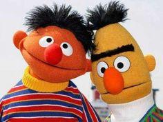 """Burt and Ernie. Miss Piggy, Cute Characters, Disney Characters, Frank Capra, Funny Blogs, Bert & Ernie, Tattoo Master, Jim Henson, Big Bird"