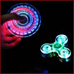 Buy Luminous LED light Fidget Spinner Hand Top Spinners Glow in Dark Light EDC Figet Spiner Batman Finger Cube Stress Relief Toys at Wish - Shopping Made Fun Edc Spinner, Spinner Toy, Hand Spinner, Stress Toys, Stress Relief Toys, Finger Cube, Rainbow Fidget Spinner, Figet Spinners, Adhd