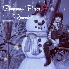 Sims 4 CC's - The Best: Snowman Poses Rework by Dreacia