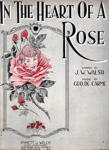 Sheet Music- In The Heart Of A Rose