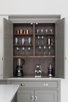 Drinks Cabinetry - Country House Project, Hampshire - Luxury Bespoke Kitchen - Humphrey Munson