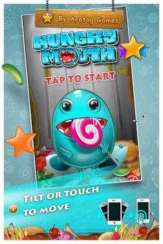 Hungry Mouth game Mouth Game, Game Development Company, It Game, Survival Mode, After Hours, Retina Display, Arcade Games, Android, Animation