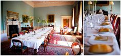 Dining room laid out for a banquet –Wedderburn Castle