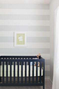 quarto bebe branco cinza clean
