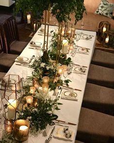 プランツコレクション/名古屋アトリエさんはInstagramを利用... Wedding Arrangements, Wedding Reception Decorations, Wedding Centerpieces, Floral Wedding, Wedding Flowers, Gold Wedding, Outdoor Wedding Backdrops, Magnolia Centerpiece, Bridal Table
