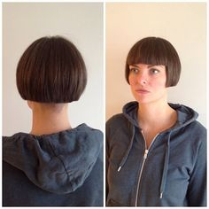 Copper Layered Bob with Bangs - 50 Classy Short Bob Haircuts and Hairstyles with Bangs - The Trending Hairstyle Try On Hairstyles, Curly Bob Hairstyles, Trending Hairstyles, Straight Hairstyles, Line Bob Haircut, Bob Haircut With Bangs, Bob Bangs, Stacked Haircuts, Short Bob Haircuts