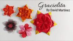 "Gracielita by David Martínez - ""Estrela flor"" de origami - Origami ""flower star"" - YouTube"