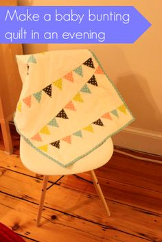 Make a polka dot baby bunting quilt in an evening!. Cashmerette