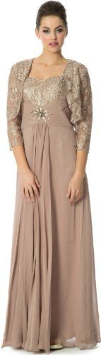 Metallic Lace Empire Mother Of The Bride Dress with Bolero, M, Mocha PacificPlex,http://www.amazon.com/dp/B00IDR7KQY/ref=cm_sw_r_pi_dp_abVntb1NJV9KER27