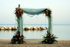 wedding alters | ... photos! This is the wedding alter under a magnificent Jamaican sunset
