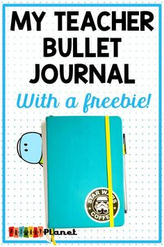 My Teacher bullet journal post! I am showing you how I keep it all together! I will show you my layout, my weekly spreads, my collections, and how I use it to organize my whole life! I don't lesson plan in my bullet journal. This post also contains a Teacher Freebies, Teacher Blogs, New Teachers, Elementary Teacher, My Teacher, Bullet Journal For Elementary Students, Teachers Toolbox, Teacher Hacks, Upper Elementary