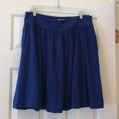 Banana Republic Skirt NWT. Gorgeous cobalt blue with POCKETS! Banana Republic Skirts Mini