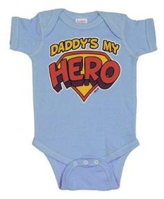 Amazon.com: Daddy's My Hero Baby Bodysuit (Assorted Colors): Clothing