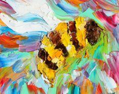 Sailing Away painting original oil abstract от Karensfineart