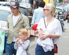 Mark Owen and wife Sam having a family day out