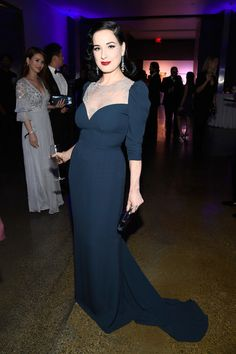 Model/dancer Dita Von Teese attends amfAR's Inspiration Gala Los Angeles at Milk Studios on October 27, 2016 in Hollywood, California.