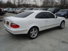 1999 mercedes benz clk 320 coupe white elegance