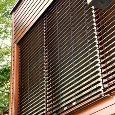 Outdoor wooden blinds | Skirpus wooden blinds and shutters factory