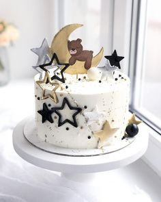 Toddler Birthday Cakes, Dinosaur Birthday Cakes, 30th Birthday, Birthday Ideas, Fancy Cakes, Cute Cakes, Cake Decorating Techniques, Baby Shower Cakes, Cake Toppers