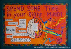 schools tend to focus on the left-brained activities but the right-brained activity is as equally as important.