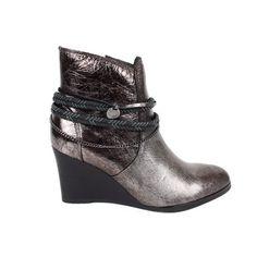 Mamzelle Yoris etain : Boots bottines pour femme
