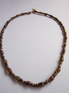 Brown Glass Bead Necklace by BeadazzlingButterfly on Etsy, $19.00
