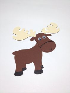 How to draw a moose in 5 steps moose antlers and church ideas moose animal craft kit for kids birthday party favor decoration arts and crafts stocking stuffer or scrapbooking thecheapjerseys Image collections