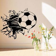 DIY Home Decoration Wall Sticker Wall Decor Art Mural with Football Pattern
