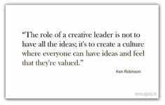 Ken Robinson on the role of Creative Leadership pic.twitter.com/R8oZA7H7kw