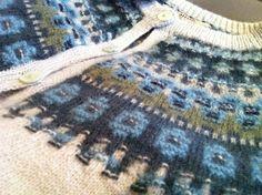 Bohus stickning Loom Knitting Patterns, Knitting Stitches, Knitting Socks, Free Knitting, Stitch Patterns, Knitting Tutorials, Crochet Trim, Knit Crochet, Crochet Granny