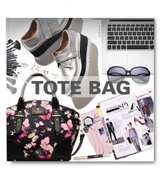 """""""Tote Bags"""" by beebeely-look ❤ liked on Polyvore featuring women's clothing, women's fashion, women, female, woman, misses, juniors, sammydress, apple and totebags"""