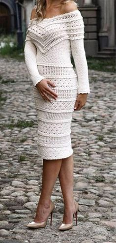 Best of Crochet Dress Crochet Cable, Crochet Cardigan, Knit Dress, Crochet Bodycon Dresses, Crochet Fashion, Lace Knitting, Crochet Designs, Crochet Clothes, Sexy Outfits