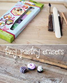 Tiny Pastry Erasers | 50 Tiny And Adorable DIY Stocking Stuffers