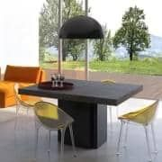 Dusk 正方形のダイニングテーブル 130または150センチメートル ほとんど彫刻 デリオによって設計vicente 正方形の ダイニングテーブル 現代的な家具 ダイニングテーブル