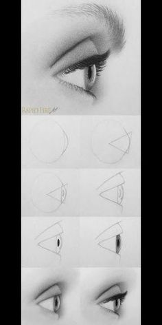 How to Draw realistic eye step by step How to Dr. - How to Draw realistic eye step by step How to Draw realistic eye st - Eye Drawing Tutorials, Drawing Techniques, Drawing Tips, Drawing Ideas, Drawing Drawing, Drawing Faces, Drawing Process, Drawing Hair, Gesture Drawing