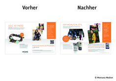 Vorher <-> Nachher: Optimierung der #Abowerbung für die Zeitschrift MADAME: #Werbemittel: 2/1-Abo-Anzeige, Heftwerbung, #Angebot: #Prämien-Abo, #Response-Aktivierung über Deeplink, Hotline und QR-Code I © Montana Medien, Hamburg - November 2013 I Bestellen Sie das #MADAME unter: www.madame.de/praemien #Direktmarketing, #Print, #Verlage, #CRM, #Abo-Marketing, #MADAME Verlag, #Dialogmarketing, #MontanaMedien BERATUNG + #AGENTUR