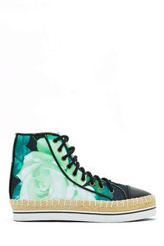 98e5dfc371e8 Black Rose High Top Sneaker   Shakuhachi   via Nasty Gal    280.00 Hipster  Shoes