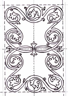 Girdle book embroidery pattern