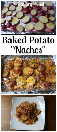 Baked Potato Nachos are great for your Super Bowl party or any get together. Baked Potato Nachos are great for your Super Bowl party or any get together. An easy appetizer recipe that is sure to be a hit! Appetizer Dishes, Easy Appetizer Recipes, Food Dishes, Delicious Appetizers, Dishes Recipes, Yummy Food, Party Appetizers, Tailgate Appetizers, Healthy Appetizers