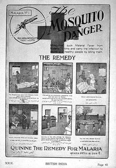An advertisement for quinine as a malaria treatment from 1927.