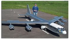 Gigantic Scale Radio Controlled B-52 with 22 foot wingspan weighing over 265lbs. See more Giant Scale RC airplanes at www.hooked-on-rc-airplanes.com