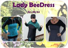Ebook  Lady BeeDress Gr. 32 - Gr. 54 von BeeKiddi auf DaWanda.com