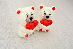 Valentine's Teddy Bear Pattern PDF English Bear Valentines, Valentine Day Gifts, Crochet Instructions, Stitch Markers, Embroidery Thread, Crochet Hooks, Color Patterns, Hello Kitty, Crochet Patterns