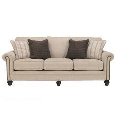 Signature Design by Ashley Milari Linen Sofa | Overstock.com Shopping - The Best Deals on Sofas & Loveseats