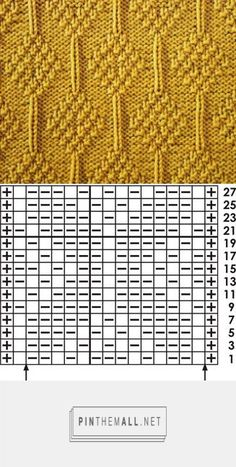 - a grouped images picture - Knit- Stitch Patterns and Graphs Loom Knitting Stitches, Dishcloth Knitting Patterns, Knitting Charts, Knit Patterns, Hand Knitting, Stitch Patterns, Knitting Designs, Diy Crafts, Ideas
