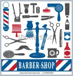 Find Vintage Barber Shop Tools Silhouette Icons stock images in HD and millions of other royalty-free stock photos, illustrations and vectors in the Shutterstock collection. Barber Shop Pictures, Tony Barber, Modern Barber Shop, Barber Business Cards, Barber Logo, Best Barber, Work Pictures, Clip Art, Beauty Shop
